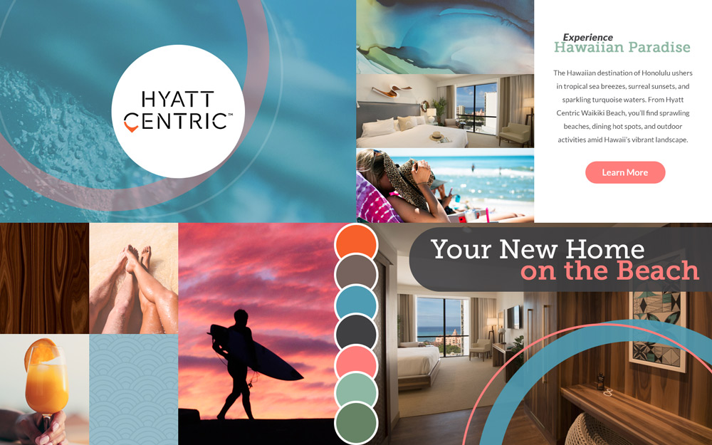 Beach Hotel Website Moodboard