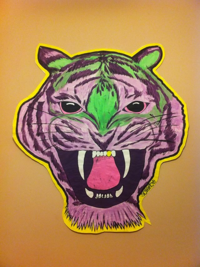 Tiger Wheatpasting